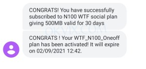 GLO WhatsApp and Facebook subscription code
