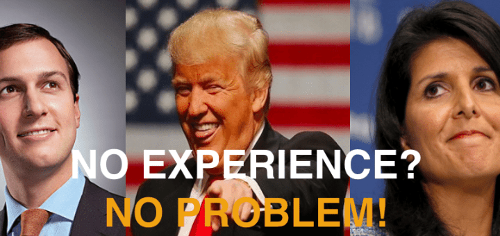 No Experience Necessary for Trump?