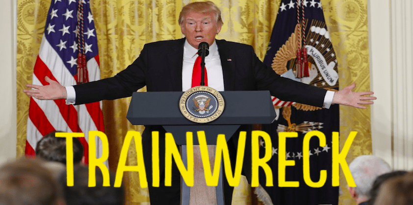 Trainwreck Trump Holds Horrific News Conference