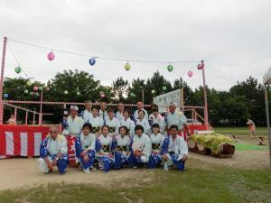 御経塚町内会夏祭り:御経塚じょんがら踊り保存会