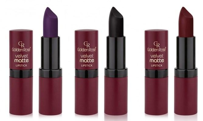 szminki golden rose velvet matte lipstick