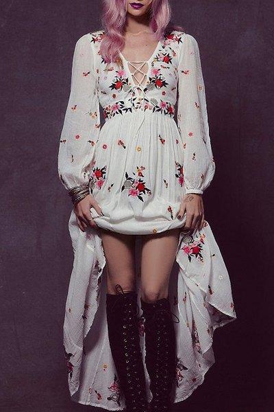 Kwiecista sukienka w stylu boho