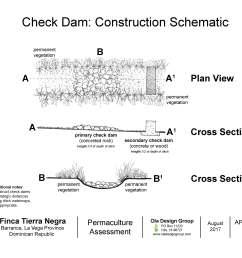 tierra negra check dam construction schematic [ 3300 x 2550 Pixel ]