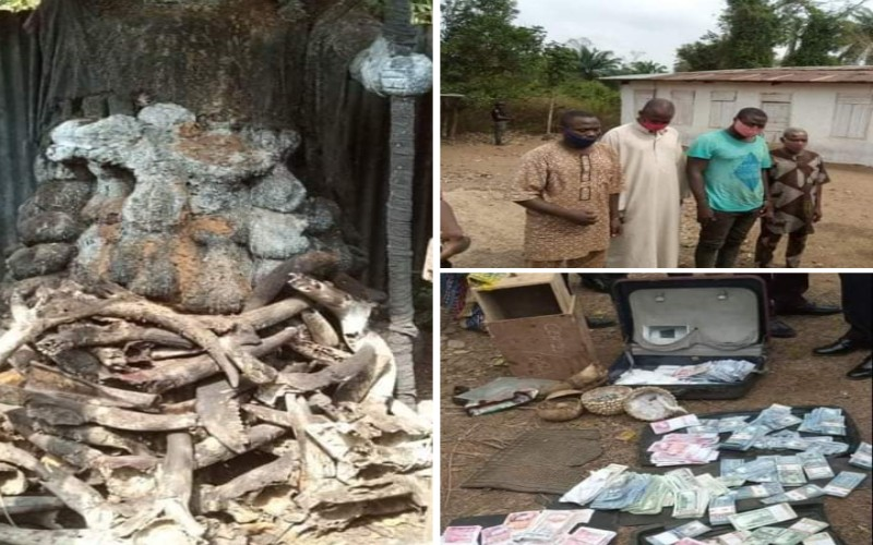 FRAUD: Police Arrest Yahoo Yahoo Herbalist for Defrauding a Man, Recover Fake Currencies