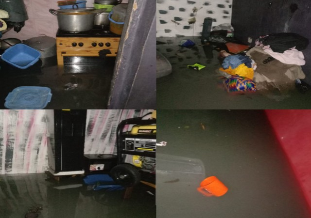 Resident Cries out as Heavy Flood Takes over House, Destroys Properties in Port Harcourt (Video)