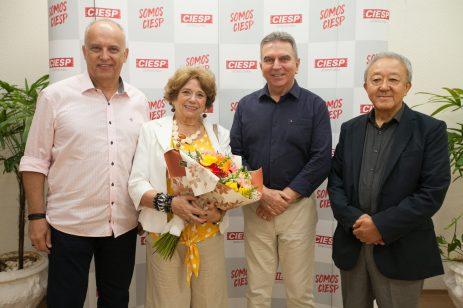 Nelson Cancelara, Mary Dantas Agostinelli, Erly Domingues de Syllos e Mario Tanigawa