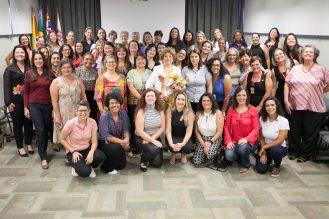 Participantes do Dia Internacional da Mulher no CIESP Sorocaba