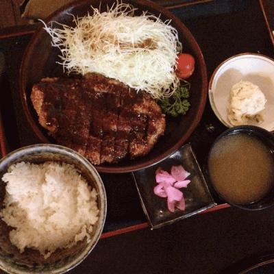 Menu misokatsu chez Kushi-Tei of Tokyo du Japantown de Düsseldorf