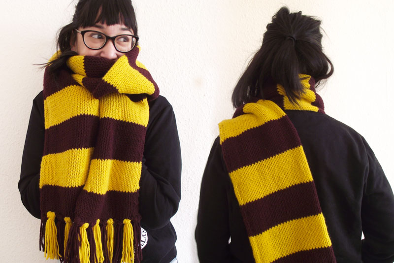 tricoter une echarpe harry potter