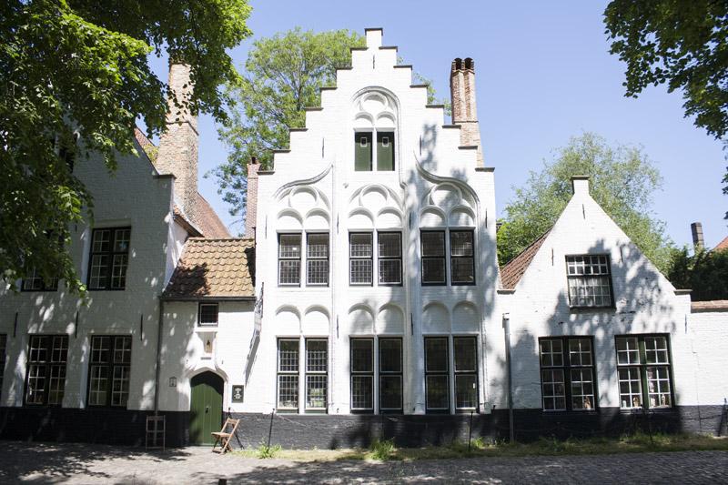 Maison du béguinage de Bruges en Belgique