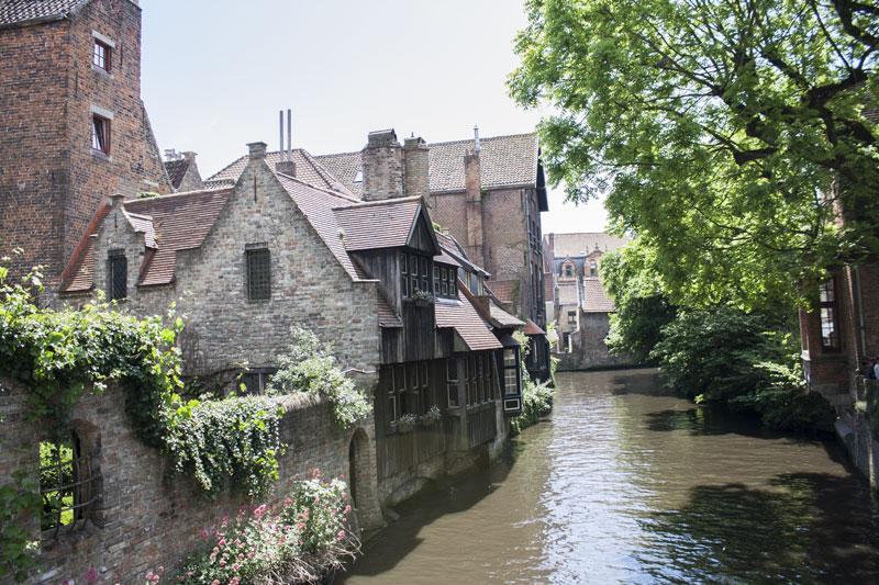 Canaux à Bruges en Belgique