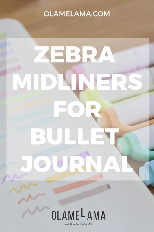 Avis sur les Zebra Midliners pour Bullet Journal