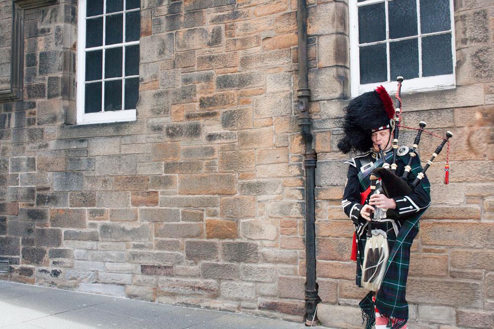 Voyage solo en Écosse à Édimbourg - Cornemuse