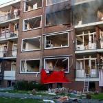 Butus, kurie buvo apgadinti sprogimo metu Roterdame, gali tekti nugriauti