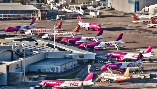 Wizz Air orlaiviu parkas