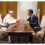 Popiežius priėmė Olandijos premjerą