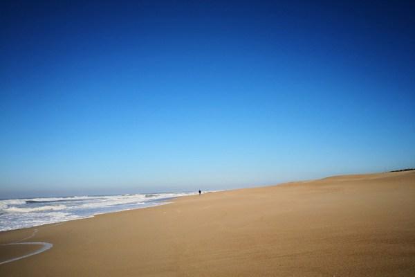 Vom Winter auf den Strand