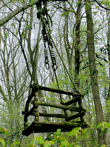 Die Schaukel im Wald