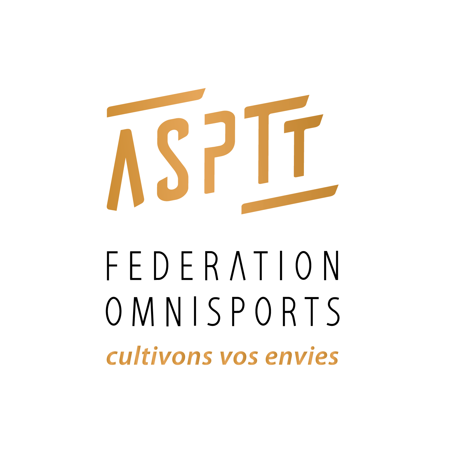Logo FSASPTT doré fond blanc T