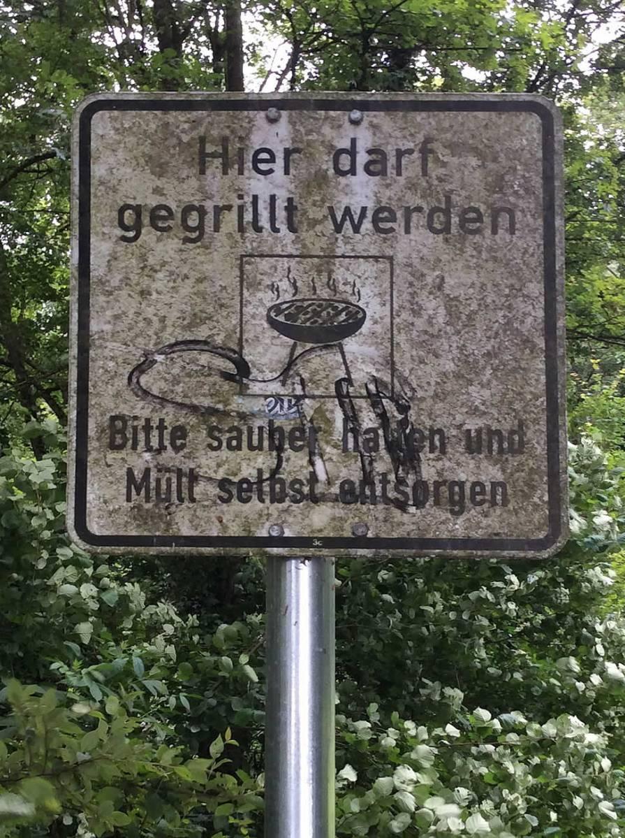 Grillen erlaubt