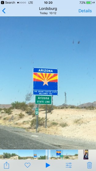 Arizona, I'm back!