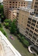 Looking at River Walk from up top.
