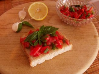 bruschetta, bruszketta, olasz paradicsomos szendvics, eredeti bruschetta recept, egyszerű bruschetta