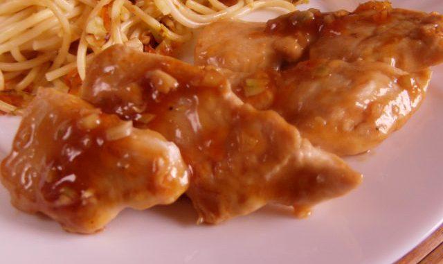 kínai ragacsos mézes-mázas csirke