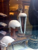Barristers' and judges' wigs on sale.