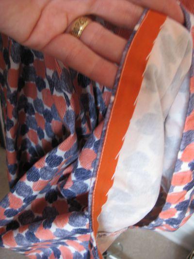 Orange and Blue Dot dress