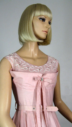Pink Shelf-Bust dress
