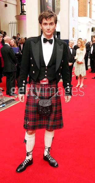 David Tennant IN A KILT.