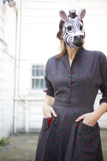 bow-tie pattern vintage dress