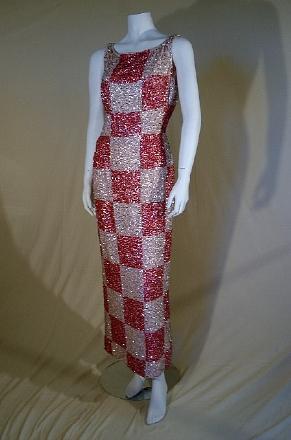 chessboard sequined dress