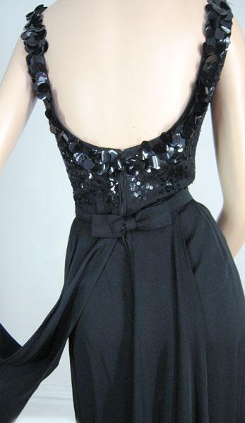Lucite Box Paillette dress