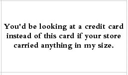 size card