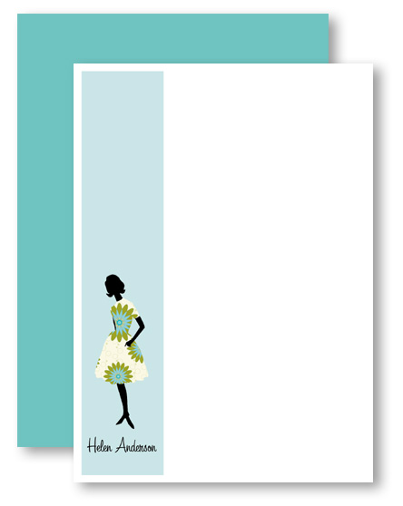 rock scissor paper dahlia dress stationery