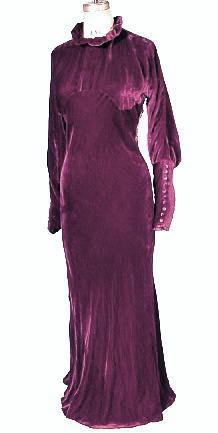 plum velvet dress