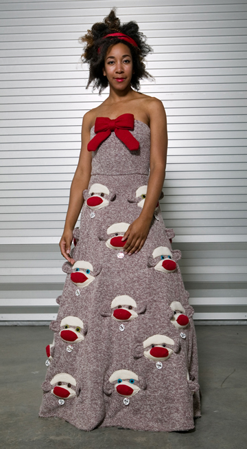 sock monkey dress