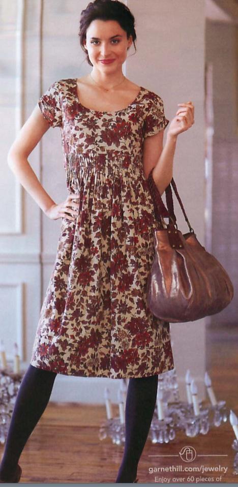 Garnet Hill Roses Dress