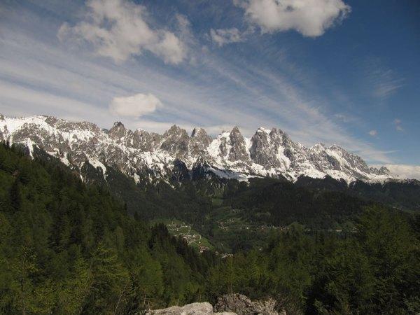 La catena meridionale delle Pale di San Martino (ph. Maurizio Salvadori)