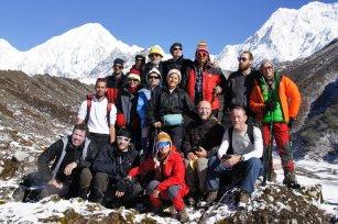 Il gruppo sopra il villaggio di Bimtang