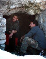 """Alex Zanghellini e Luca Turchetto del gruppo """"Sentinelle del Lagazuoi"""", grazie a loro é oggi possibile visitare il caposaldo di punta Gallina"""