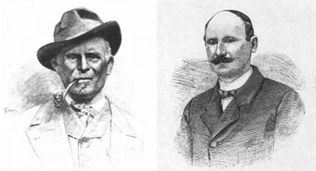 Antonio Castagneri (1845-1890), famosa guida di Balme, coetaneo di Angelo (Museo delle Guide di Balme). A dx il conte Saint-Robert, uno dei fondatori del CAI (Ass. Saint-Robert, Castagnole Lanze)