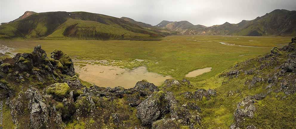 La regione del Landmannalaugar in Islanda: un esempio terrestre di come possono essere le montagne sulla Luna - ph. Andrea Moro
