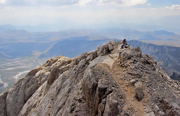 In vetta al Corno Grande (2912 m)