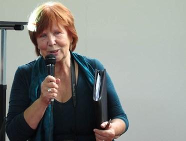 Silvana Rovis (redattrice di Alpi Venete) mentre interviene al convegno