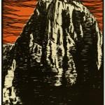 Disegno di Domenico Rudatis, il Montasio, da Sport Fascista (1931)