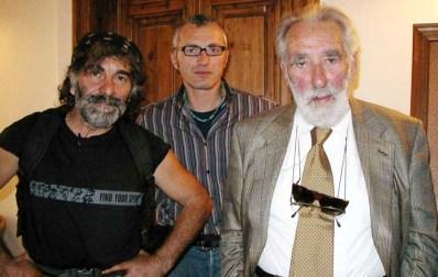 Mauro Corona, Alberto Peruffo e Mario Rigoni Stern, 2003