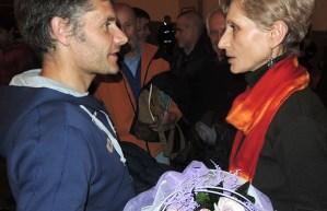 Marco Anghileri e Goretta Traverso (moglie di Renato Casarotto) (ph R. Serafin)